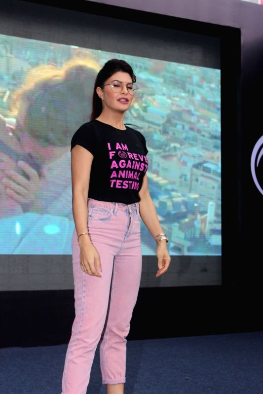 Bollywood actress Jacqueline Fernandez and The Body Shop in support of FAAT (Fight Against Animal Testing) campaign in Mumbai, on June 10, 2017. - Jacqueline Fernandez