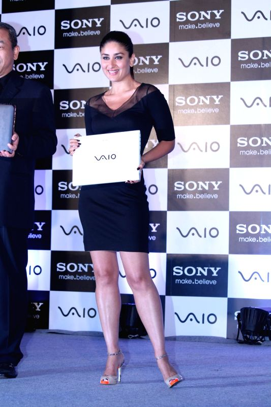 Bollywood actress Kareena Kapoor launches new range of Sony Vaio laptops at J W Marriott. - Kareena Kapoor