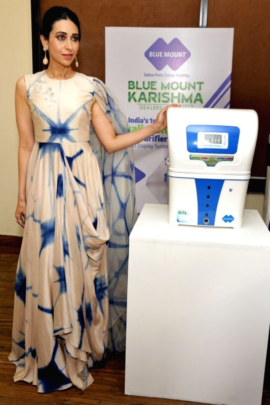 Bollywood actress Karishma Kapoor during a product promotion in New Delhi on May 14, 2017. - Karishma Kapoor