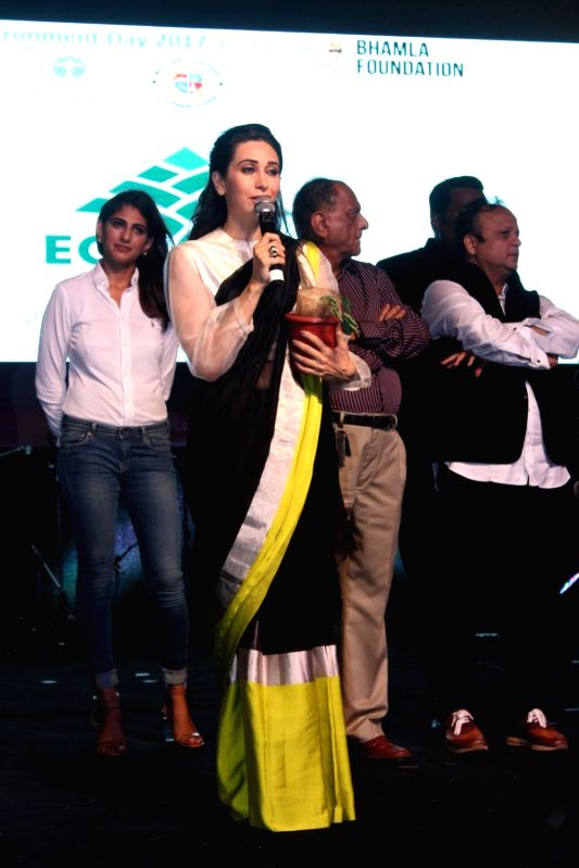 Bollywood actress Karisma Kapoor during a program to celebrate world environment day organized by Bhamla Foundation and MCGM in Mumbai, on June 5, 2017. - Karisma Kapoor