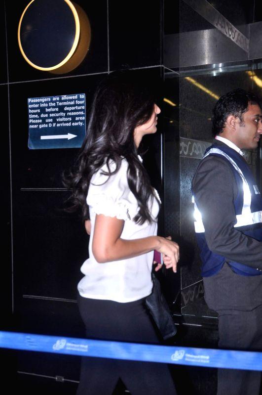 Bollywood actress Katrina kaif leave for IIFA Awards at International Airport. - Katrina