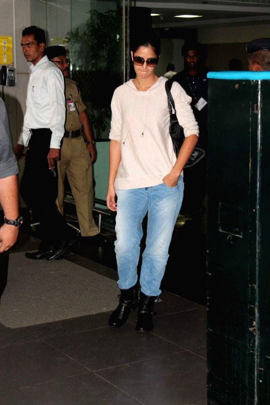 Bollywood actress Katrina Kaif returns from Ek Tha Tiger shooting.
