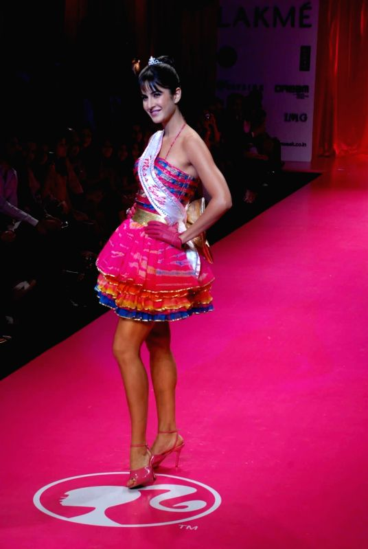 katrina dressed as Barbie