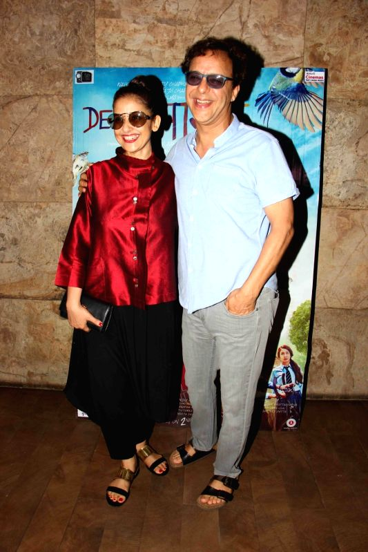 Bollywood actress Manisha Koirala and filmmaker Vidhu Vinod Chopra during the screening of film Dear Maya on June 4, 2017. - Manisha Koirala and Vidhu Vinod Chopra