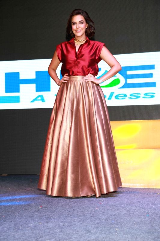 Bollywood actress Neha Dhupia during a programme, in Gurugram, on June 03,2017. - Neha Dhupia