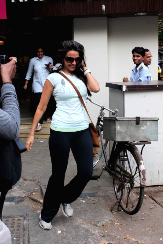 Bollywood actress Neha Dhupia snapped Mumbai, India.