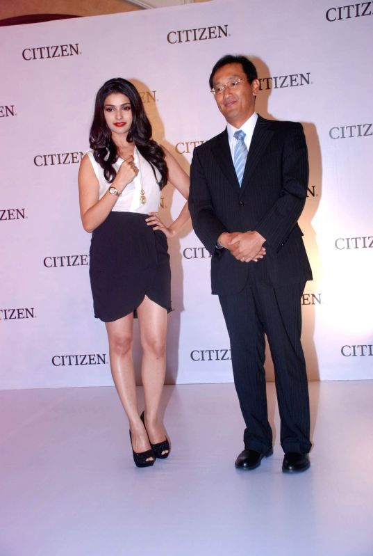 Bollywood actress Prachi Desai launches the Citizen L Diamond watches at ITC Parel in Mumbai.