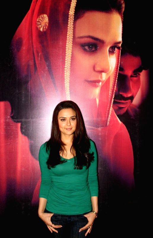 Preity Zinta at the press conference of her new film ...