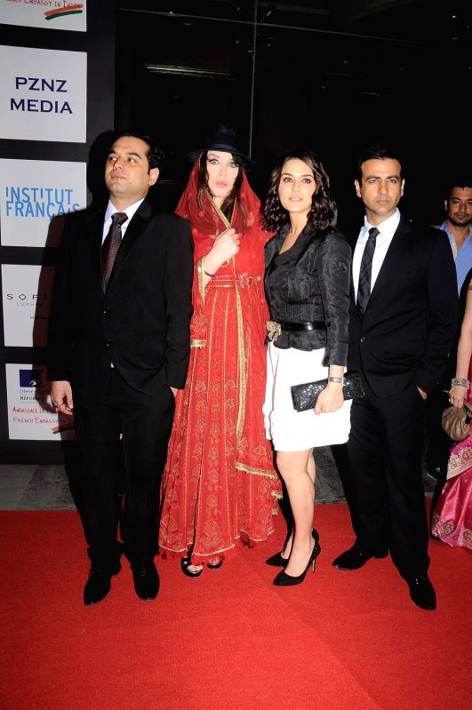 Bollywood actress Preity Zinta at the launch of `Ishq in Paris` film at Trident. - Preity Zinta