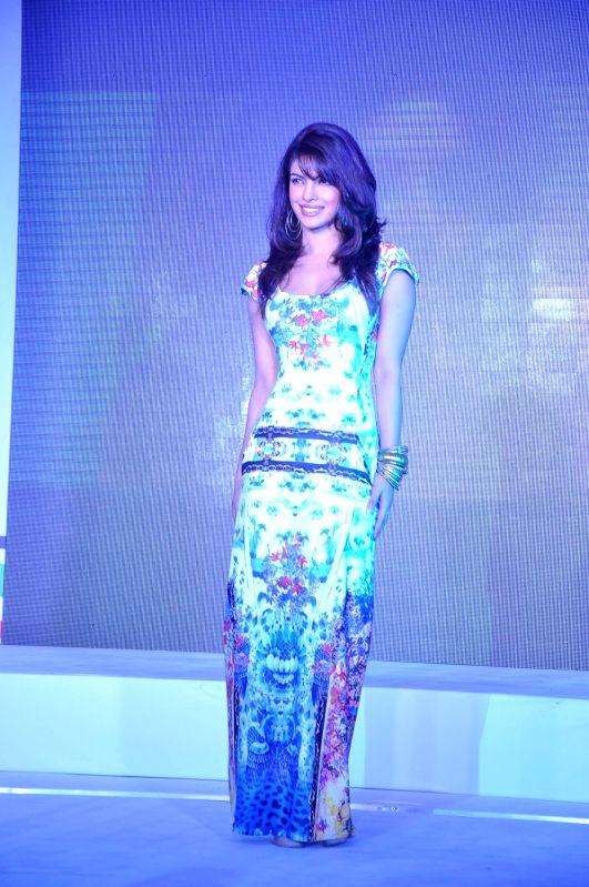 Bollywood actress Priyanka Chopra at Videocon D2H press meet JW Marriott Mumbai, India. - Priyanka Chopra