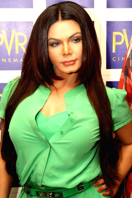 Bollywood actress Rakhi Sawant at a promotional event of the film `rakhtbeej`, in New Delhi on Thursday. - Rakhi Sawant