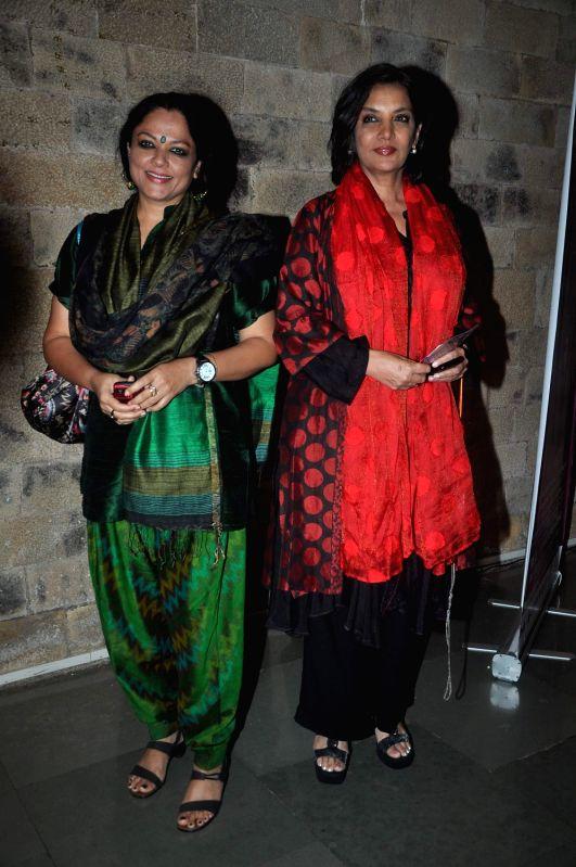 Bollywood actress Shabana Azmi at Raell Padamsee`s Broadway and Beyond show at NCPA, Mumbai. - Shabana Azmi