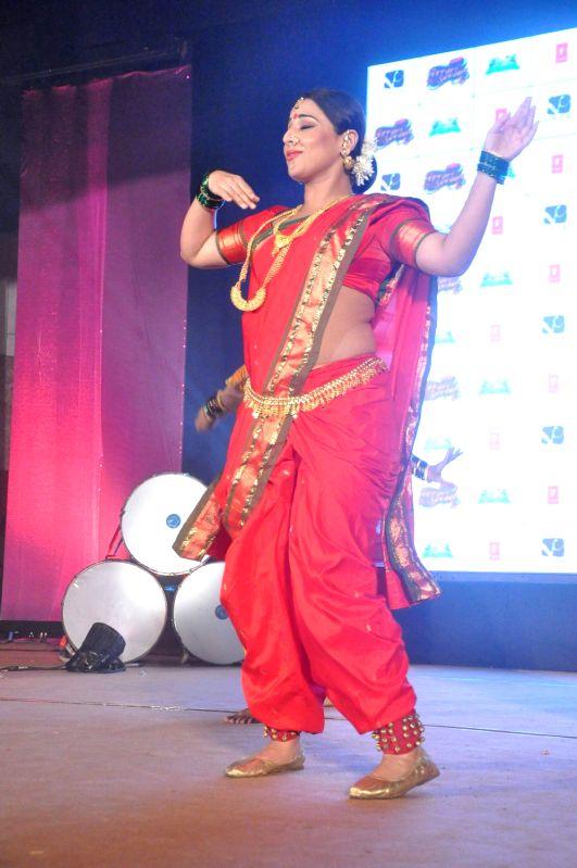 Bollywood actress Vidya Balan performs lavani to promote `Ferrari Ki Sawari` in Bandra, Mumbai.