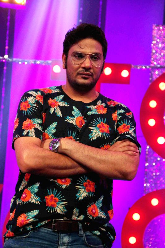 Bollywood casting director Mukesh Chabbra on the sets of NDTV Prime`s Ticket to Bollywood in Mumbai, on May 2, 2014.