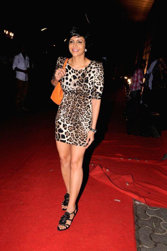 Bollywood celeb Mandira Bedi at the premiere of film `Ferrari Ki Sawaari` in Mumbai. - Mandira Bedi