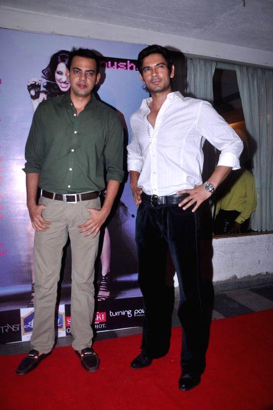 Bollywood celebrities at Anusha Dandekar`s album launch in Tryst, Mumbai.