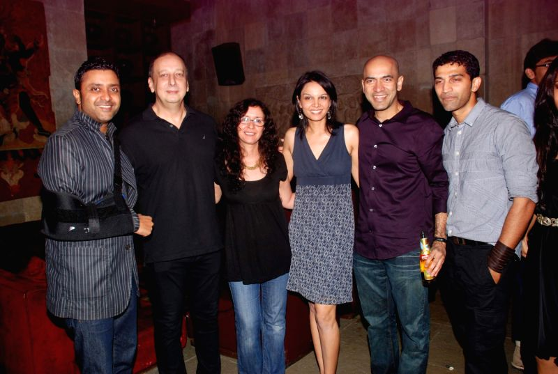 Bollywood celebrities at Love Wrinkle Free bash in Shiro, Mumbai.