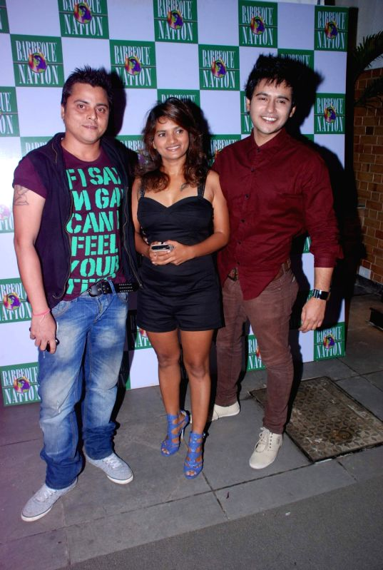 Bollywood celebrities at the Launch of Barbeque Nation Restaurant in Andheri.