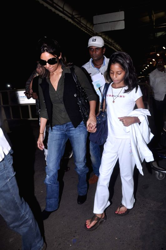Bollywood celebrities Gauri Khan snapped at airport leaving for London. - Khan