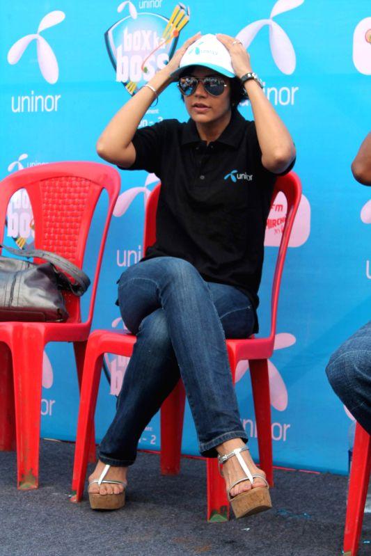 Bollywood celebrity Mandira Bedi at Box Cricket Finale, Box Ka Boss at Lalit Kal Bhavan. - Mandira Bedi
