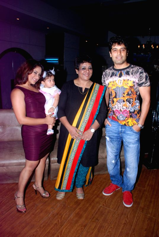 Bollywood celebrity Sai Deodhar mother Shrabani`s birthday bash at Fat Cat Cafe.