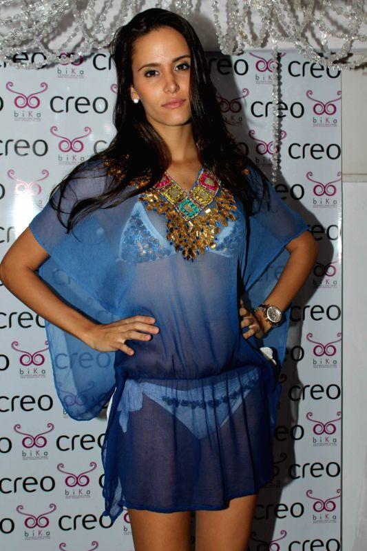 Bollywood celebs at the launch of International swimwear brand by Ambika Sanjana at Creo.