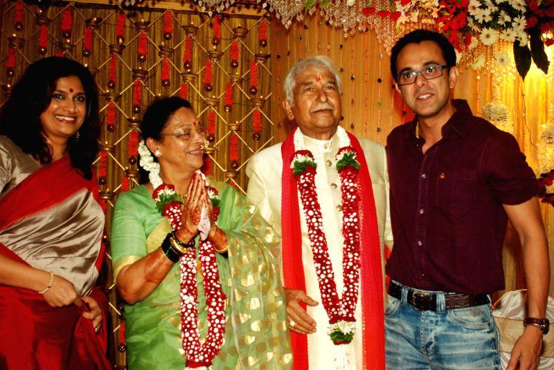 Ramesh and seema deo celebrates their golden wedding anniversary