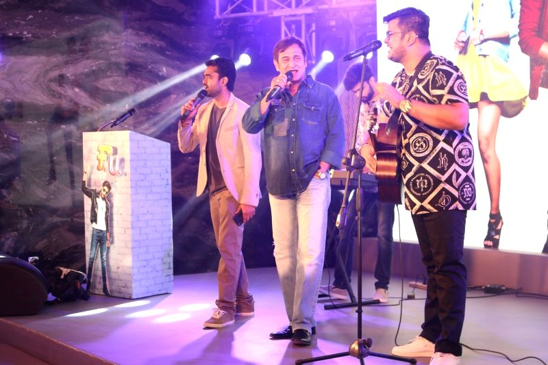 """Bollywood celebs during the music launch of Marathi film """"FU-Friendship Unlimited"""" in Mumbai on April 27, 2017."""