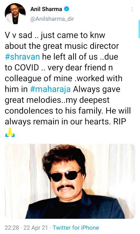Bollywood mourns demise of composer Shravan Rathod