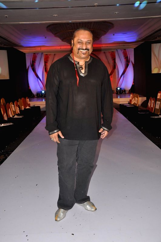 Bollywood music composer Leslie Lewis during the Chrysalis fashion show in Mumbai, on April 25, 2014.