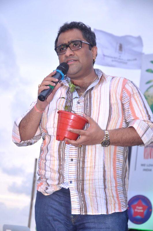 Bollywood singer Kunal Ganjawala at world environment day celebrations in Mumbai.