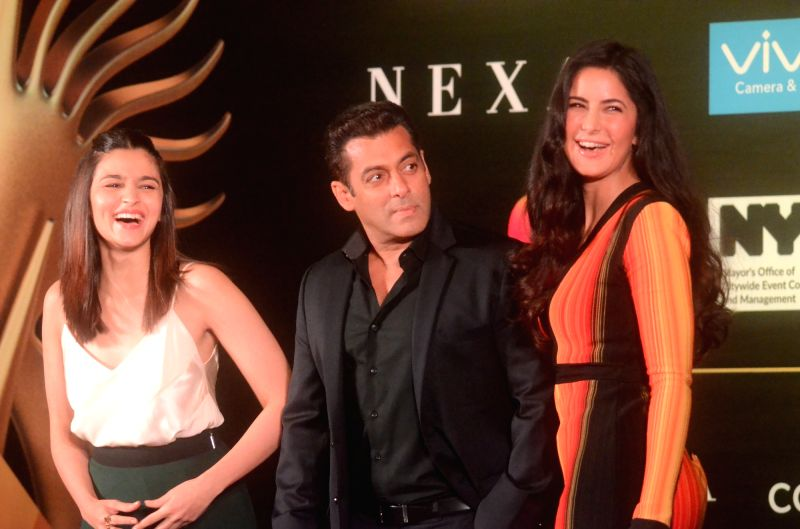 Bollywood star Katrina Kaif during the press conference to reveal details about 18th edition of the International Indian Film Academy (IIFA) Awards in Mumbai on June 1, 2017. - Katrina Kaif