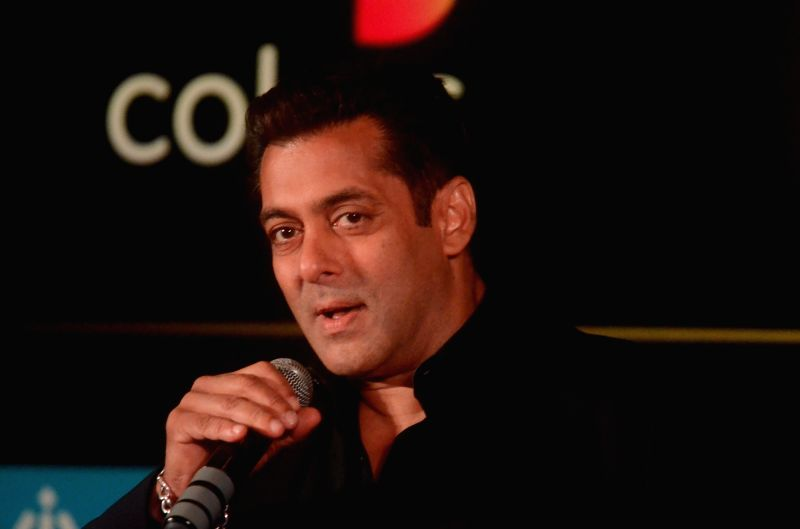 Bollywood star Salman Khan during the press conference to reveal details about 18th edition of the International Indian Film Academy (IIFA) Awards in Mumbai on June 1, 2017. - Salman Khan