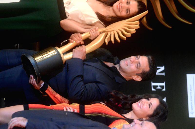 IIFA Awards - Alia Bhatt, Salman Khan and Katrina Kaif press conference - Katrina Kaif and Salman Khan
