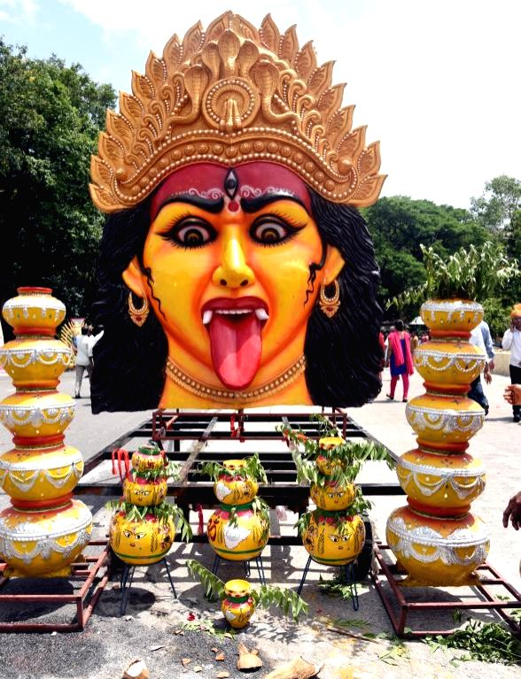 Goddess Mahankali for Bonalu festival