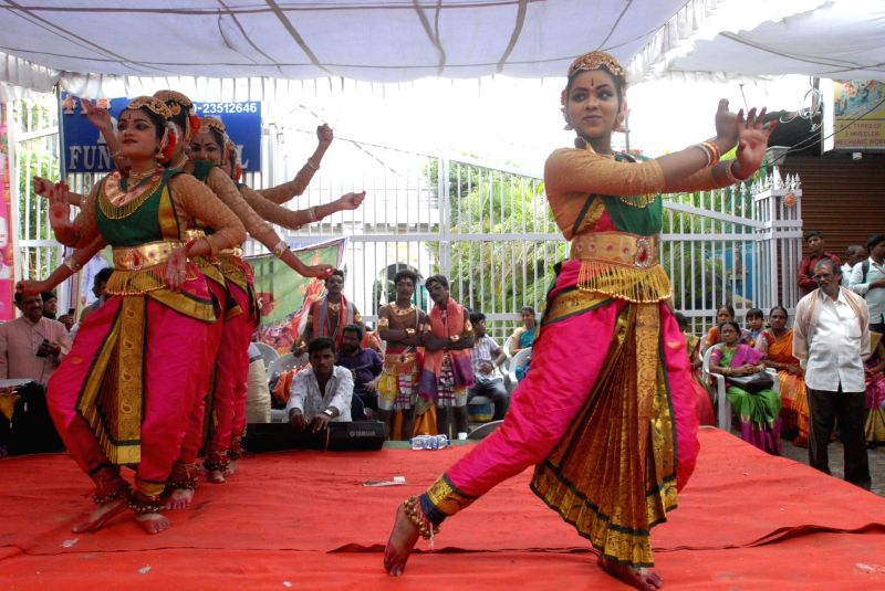 Bonalu Festival celebrations underway in Hyderabad on July 15, 2018.