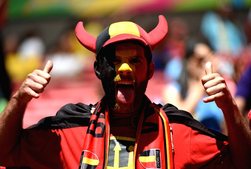 A Belgium's fan poses before a quarter-finals match between Argentina and Belgium of 2014 FIFA World Cup at the Estadio Nacional Stadium in Brasilia, Brazil, on ...