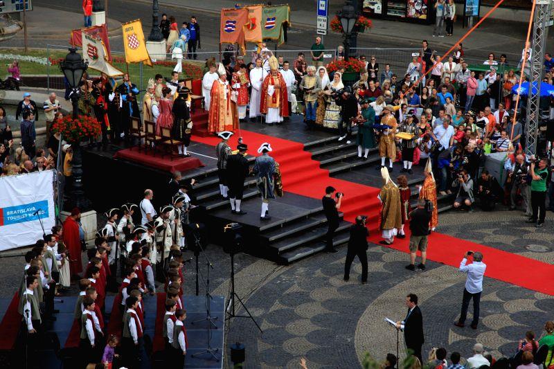 BRATISLAVA. June 26 Bratislava celebrates Coronation Day 2014.