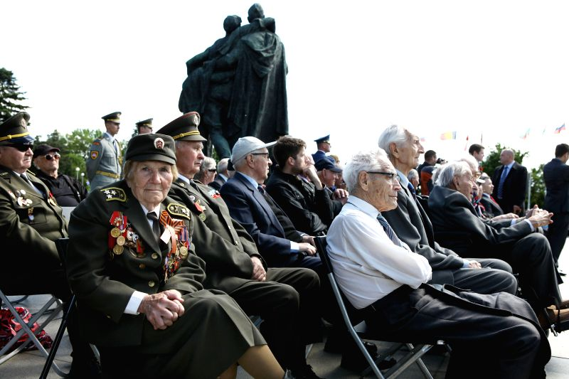 Veterans attend a commemoration to mark the Victory Day, in Bratislava, Slovakia on May 9, 2014.