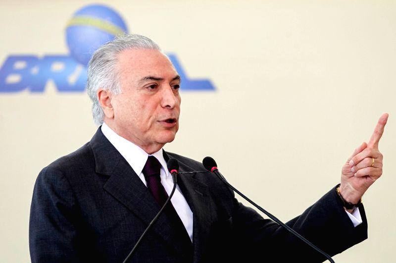 Brazil President Michel Temer. (File Photo: IANS)