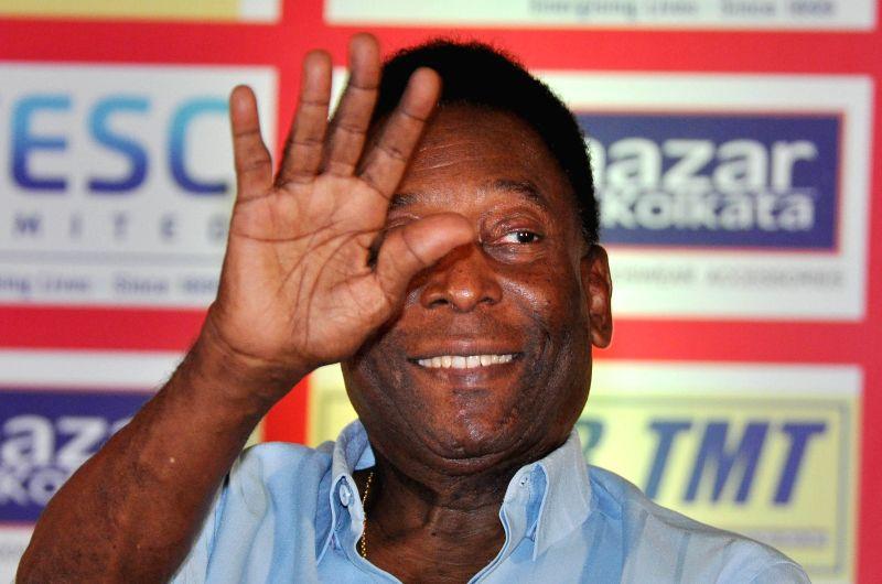 Brazilian football legend Pele (Image Source: Kuntal Chakrabarty/IANS)