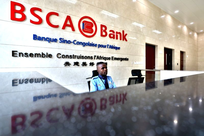 BRAZZAVILLE, June 12, 2018 - A duty officer sits in the new office building of the Sino-Congolese Bank for Africa (BSCA) in Brazzaville, capital of Republic of Congo, on June 9, 2018. Since its ...