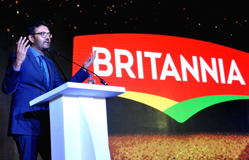 Britannia Industries Limited Managing Director Varun Berry addresses a press conference in Kolkata on Aug 6, 2018.