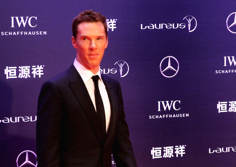 : British actor Benedict Cumberbatch poses on the red carpet as he arrives for the Laureus World Sports Award ceremony at the Grand Theater in Shanghai on April ... - Benedict Cumberbatch