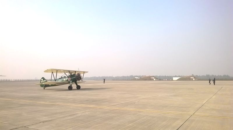 British aviator Tracey Curtis Taylor arrives at Hindon
