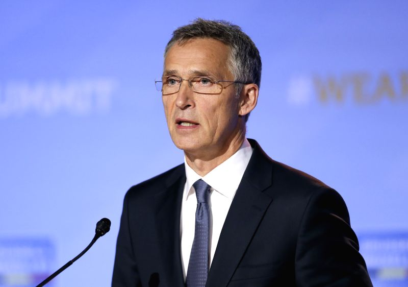 BRUSSELS, July 12, 2018 - NATO Secretary General Jens Stoltenberg addresses a press conference at the end of NATO Summit in Brussels, Belgium, on July 12, 2018.