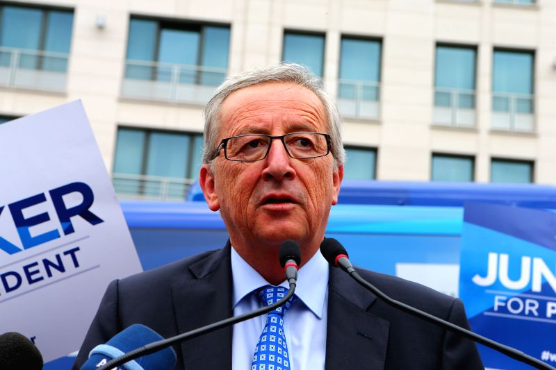 Filed photo taken on May 21, 2014 shows Jean-Claude Juncker speaks at his election campaign in Brussels, Belgium. European Union (EU) leaders decided on Friday to .