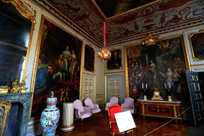 BRUSSELS, May 30, 2017 - Photo taken on May 25, 2017 shows the inside view of the Royal Domain of Drottningholm located at the suburb of Stockholm, Sweden. The Royal Domain of Drottningholm, one of ...