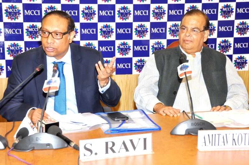 "BSE Chairman S. Ravi during an interactive session on ""A Robust Stock Market and Financial Services Projects Economic Power"" in Kolkata, on June 13, 2018."