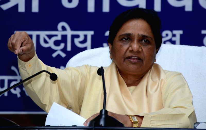 BSP chief Mayawati addresses a press conference in Lucknow on July 24, 2016.